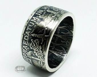 Pirate Coin Ring, Pieces Of Eight, Pure .999 Silver - A Predatory World