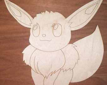 Pokemon-Eevee cut out 1/8 x 10 x 103/4