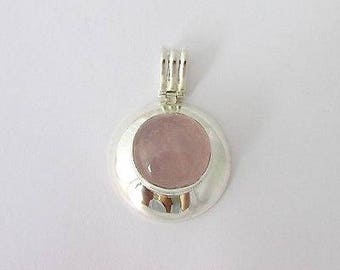 Sterling Silver and natural rose quartz