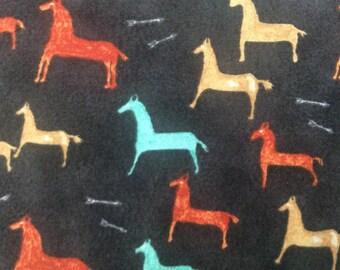 Black Horse Fabric
