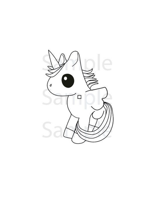 Unicorn coloring page pdf instant download printable