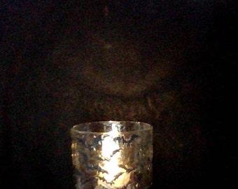 Halloween bats votive candle holder