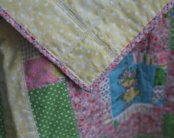 Free Shipping, Vintage Baby Quilt,Boy,Girl,Baby