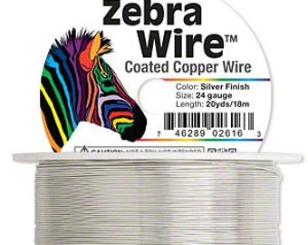 Artistic Wire - 24 gauge | Silver anti-tarnish coated copper - Sold per 20 yard roll | Use for fine wirework, wire knitting | High quality