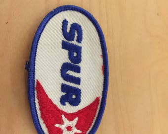 spur gas station patch,  new old stock, 1970's