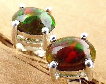 DANGLE EARRINGS black opal, jewelry Black Opal, opal jewels, opal earrings, ethiopian opals, natural stone, gh20