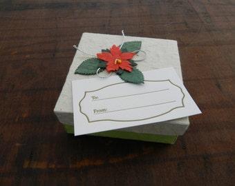 Gold Letterpress Gift Tags - Set of 4