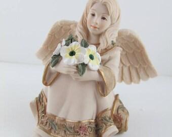 Angel Figurine Sarah's Birthstone Angels, May  Avon Vintage