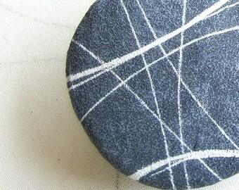 Tiebacks modern recycled paper Magnet tiebacks with stone Minimalist holdback design 1 Piece