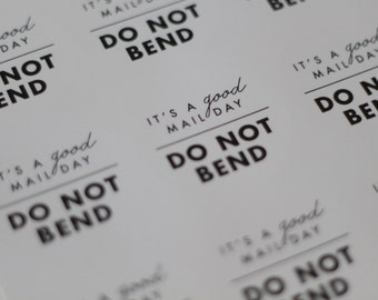 "DO NOT BEND stickers // do not bend // shipping labels // 2""round stickers // 100 Stickers // 100 do not bend stickers //"