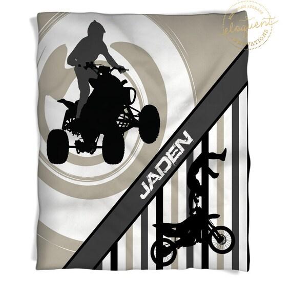 Motocross Blankets Atv Tan Amp White Stripes Motocross
