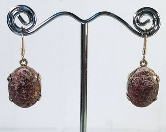 Handmade Sterling Campbellite Earrings - Rare American Gemstone