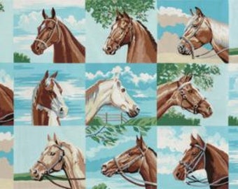 """Moda Purebred II Horse Fabric Panel 23' by 44/45"""" by Erin Michael"""