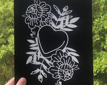 Goth Sweetheart Valentine Print