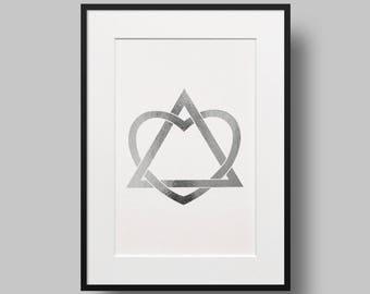 Adoption Foil Print. Adoption Art. Adoption Symbol of Love. Foil Print. Adoption Gift. Baby gift. Nursery Decor. Home Decor. Wall Art