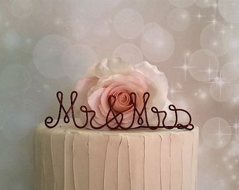 MR & MRS Wedding Cake Topper, Wedding Cake Decoration, Wedding Centerpiece, Bridal Shower, Anniversary, Engagement Party Decoration