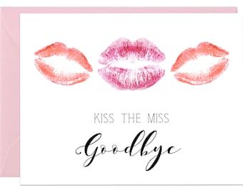 KISSES || Lipstick Bachelorette Party Card
