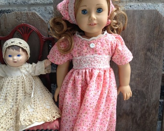 """American Girl  FLORAL DRESS and scarf   for 18"""" doll"""