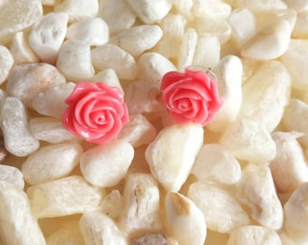 Sailor Jupiter Earrings. Pink Rose Earrings.