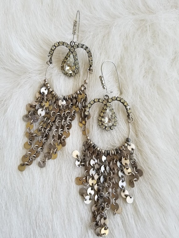 SOLD! Shimmery Duster Earrings