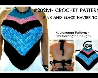 HALTER top pattern, CROCHET PATTERNS, child, teen, women, plus size, Summer halter top, beach wear, #2021, sleeveless top