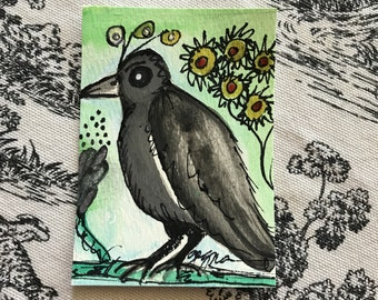 ACEO Crow