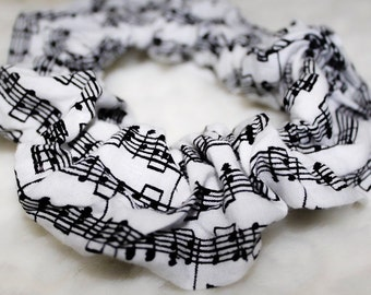 Music Notes Scrunchie, Music Notes Hair Accessories