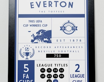 Everton FC Infographic Poster
