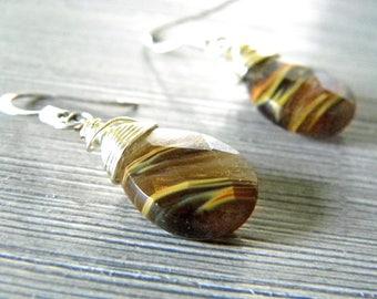 Cherry Quartz Glass Earrings Dangle Earrings Ear Wire Earrings Teardrop