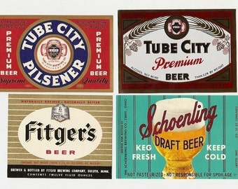 21 Different Old 1930's Plus OLD BEER LABELS