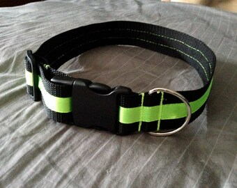 LG/Fursuit size1.5in thick collar with Dring (20 - 34in)
