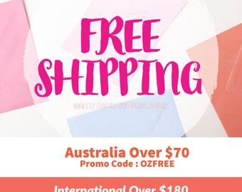 Free Shipping - Domestic & International