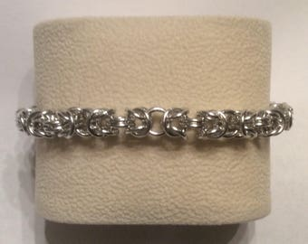 Sale!!!  50% off  Bracelet Chainmaille Byzantine