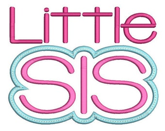 Little SIS! Embroidered Shirt, Bodysuit, Burp Cloth, Dish Towel and more!