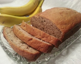 Banana nut bread homemade from scratch