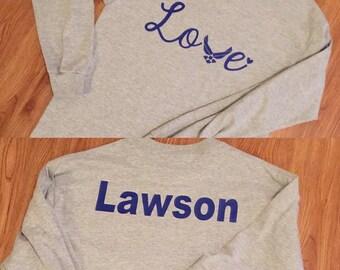 Air Force love shirt