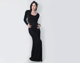 Maxi Dress | Long Sleeve Women's Tall Dress | Minimalist Bohemian | Petite Dresses | Made in our loft | L415 & Co Clothing (#415-714)