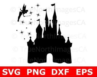 Disney Castle SVG / Disney SVG / Tinkerbell SVG / Castle svg / Castle Silhouette / Castle Clipart / svg Files for Cricut / Disney svg Files