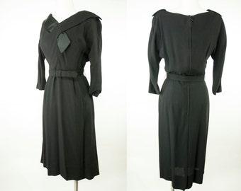 Nelson-Caine ~ 50s/60s ~ Black Secretary Dress