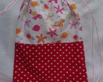 Bag child model cord sea pink orange