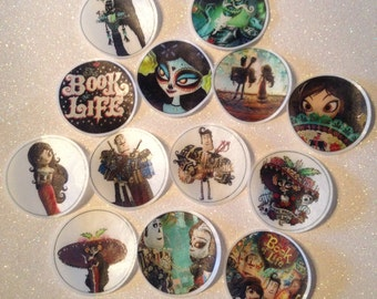 12 Book of Life edible paper, cupcake cookie topper Decorations PRE CUT