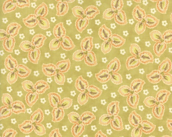 Hazel and Plum - Autumn Leaves in Citron Green: sku 20292-18 cotton quilting fabric by Fig Tree and Co. for Moda Fabrics
