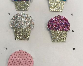 Cupcake (1) hair clip