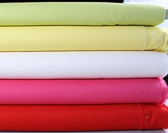 1 meter of cotton pique, red, Fuchsia, lime or yellow