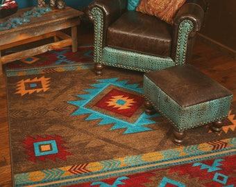 rug mystic red austin geometric products woven southwestern well mc modern