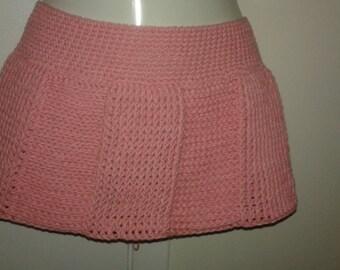 Crochet pleated skirt