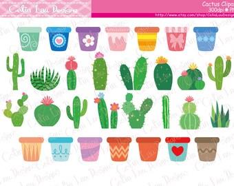 Cactus Clipart , Cactus clip art , flower pot clipart (CG221)