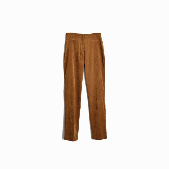 Vintage 90s Express Faux Suede Pants in Camel Brown / Stretch Blend Pants - women's xs