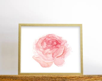 Pink Peony Print, printable wall art, Peony Print, Floral Print, Watercolor Printable, Botanical Print, Downloadable Flower Art Print
