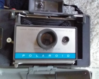 1960's Polaroid Automatic Land Camera Model 100; Vintage Polaroid Camera with Accessories